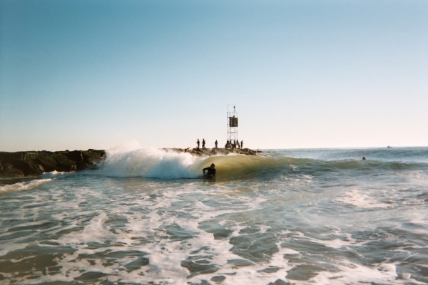 pit mini barrel. Delmarva, surfing photo