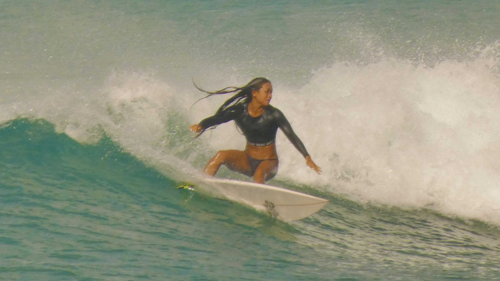September Girl. Oahu, Surfing photo