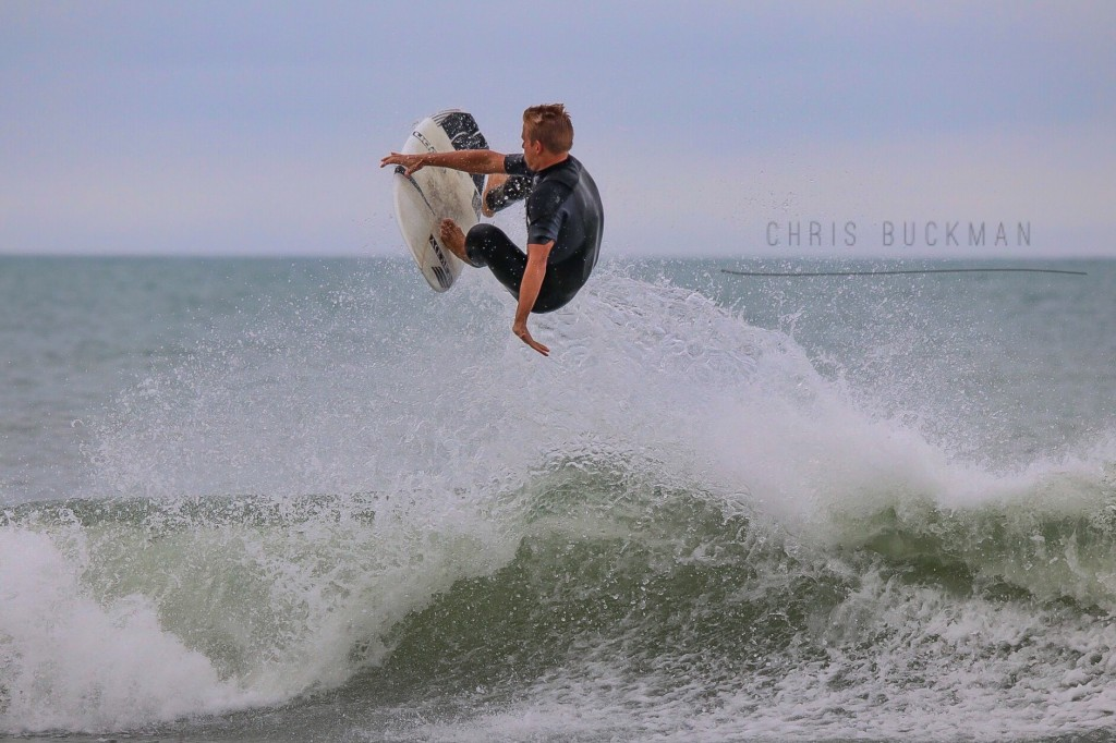 Cobi Christiansen carving up Surfside Beach and racking
