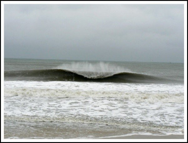 Jersey noreaster swell april 2007. New Jersey, surfing photo