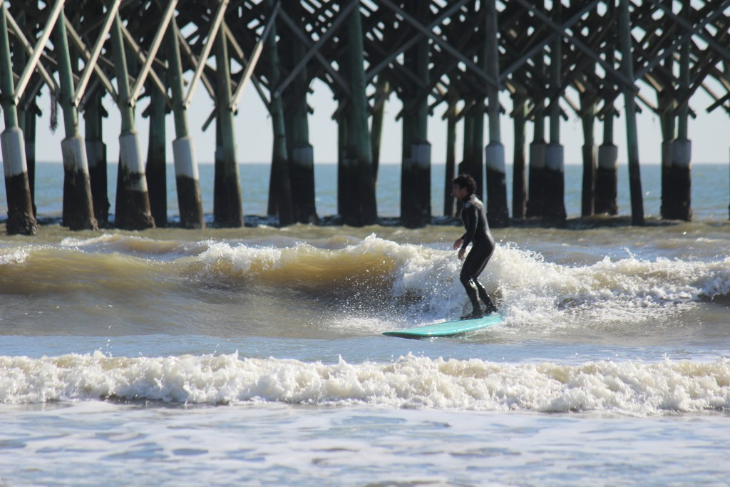 small kine ankle slappah @ Folly. South Carolina, Surfing photo