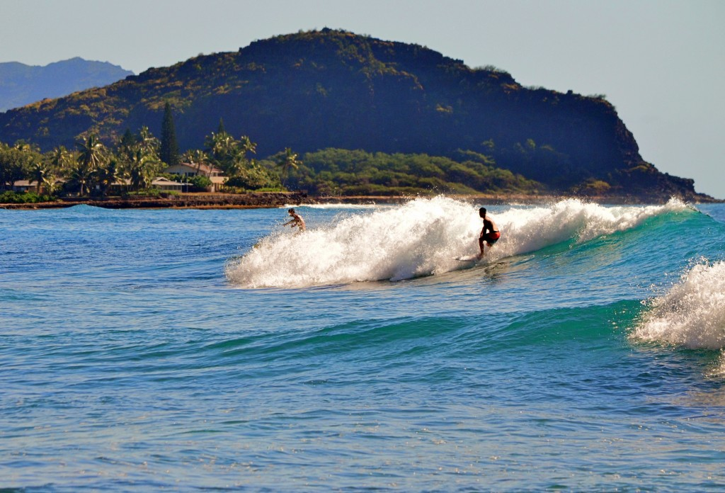 Morning Exercise . Oahu, Surfing photo
