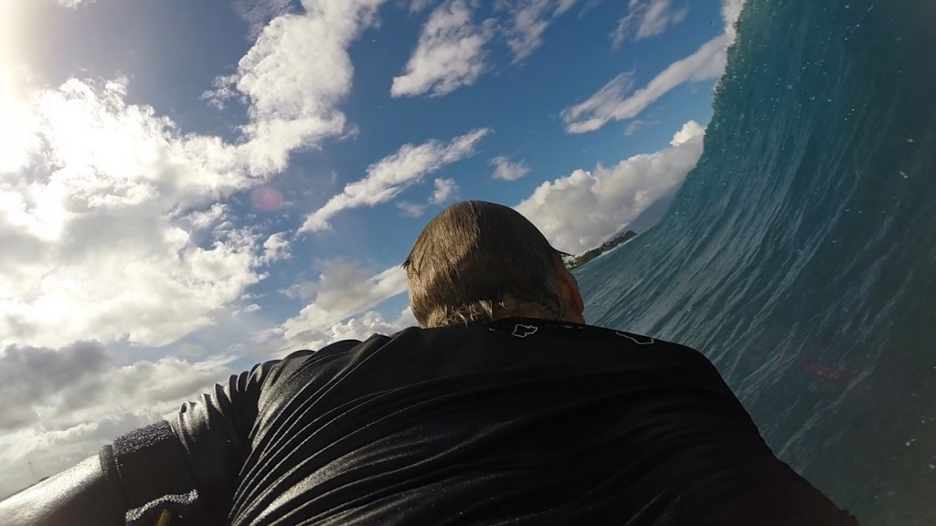 Boogie bottom turn - GoPro3+ . Washington, surfing photo