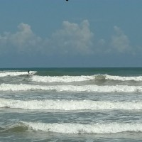 TS Franklin. North Texas, surfing photo
