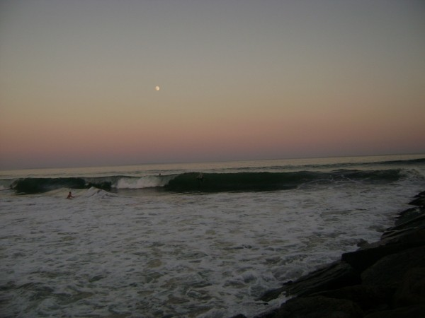 Moon Set last bertha day. Southern New England, surfing photo