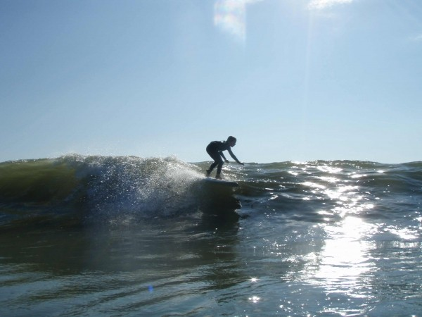 8 Year Old Douglas Wendel On Rodanthe Glass August