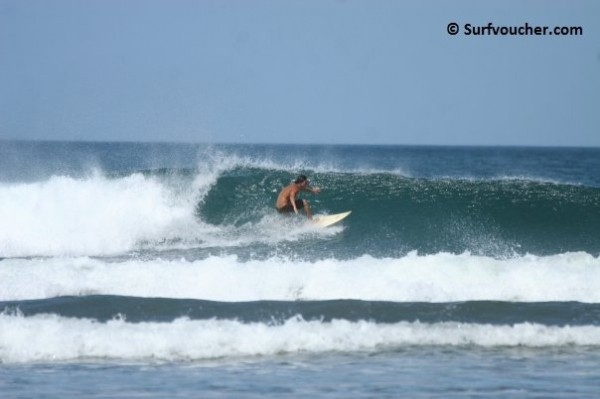 Playa Guiones Costa Rica Surfing playa Guiones in the