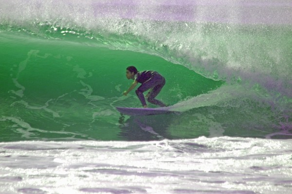Barrels, Danielle Swell Barreling South of Manasquan