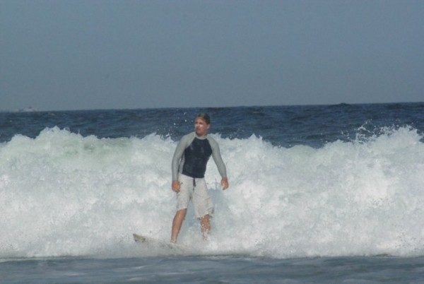Connor Stimpson (13 Year Old Grom) on a day in Belmar...just
