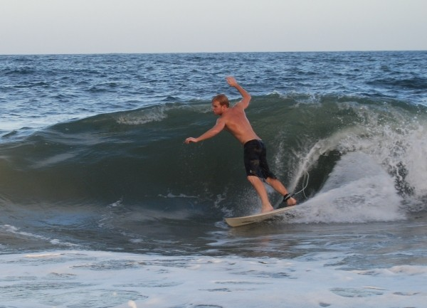 Surfing Golden Sands Mid Summer Shore Break