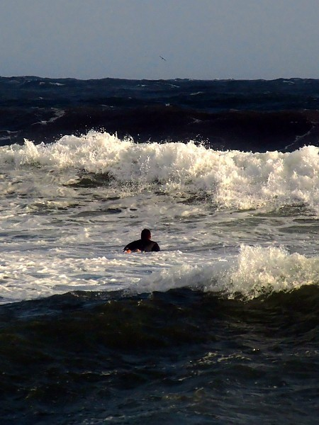 Newport, Rhode Island Surf Gusty south winds create
