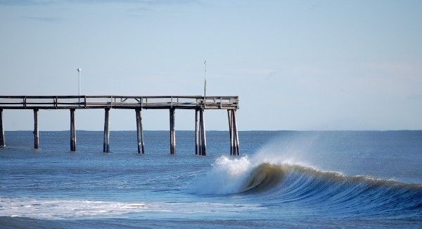Inlet. Delmarva, surfing photo