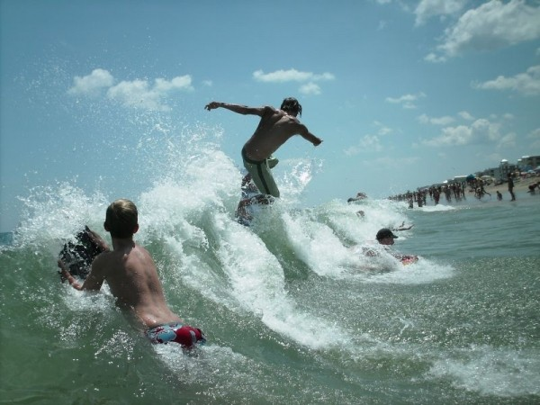 Boogie Skim De no waves. Delmarva, surfing photo