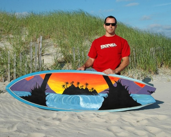 Surfboard Art - Long Beach I just finished painting