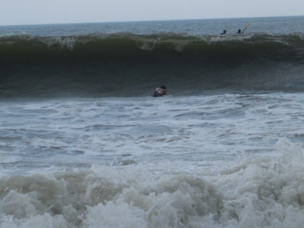 Pawleys Island Hurrican Bertha Wave from swell from