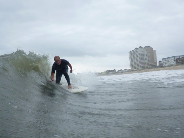 Sept 09 head ducking. Delmarva, Surfing photo