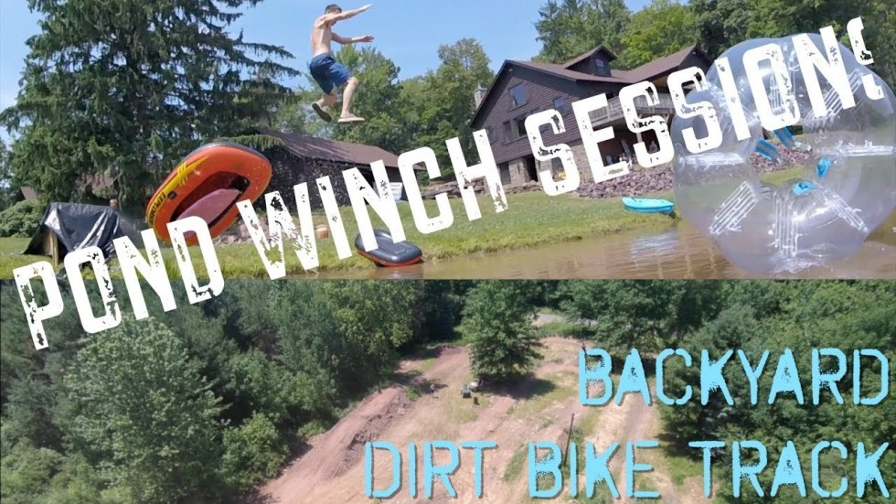Crazy Backyard Dirt Bike Track & Kraken Winch Session 2018!!!
