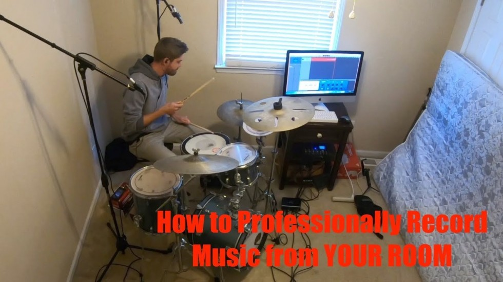 How to Professionally Record Music from YOUR ROOM