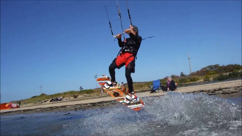 Jumping Over Me  (KiteBoarding Joaquin at Sandy Hook, NJ)