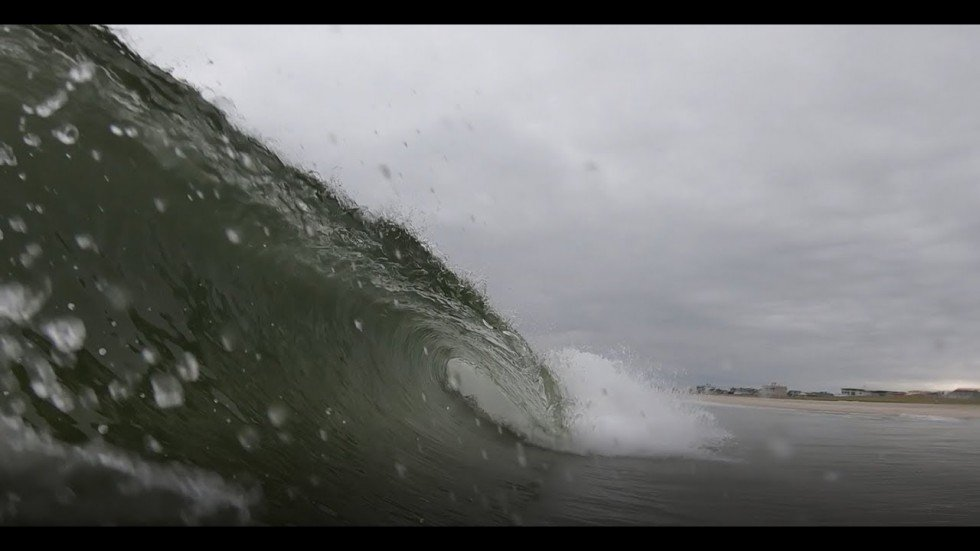 Surfing Tropical Storm Chantal | August 2019 | New Jersey (GoPro)
