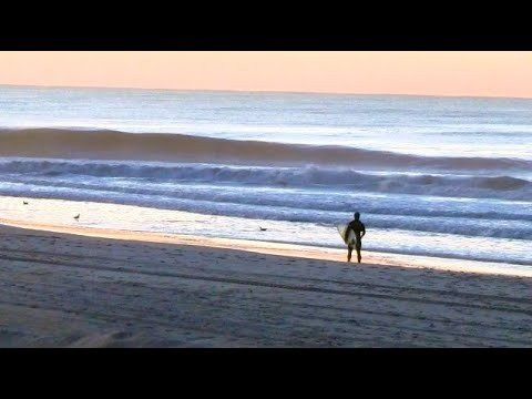 Surfing - Long Beach, NY - RAW - Sunrise Surf Session - Calming Ocean Sounds