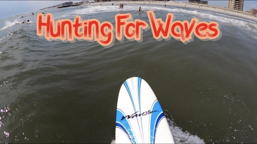 Hunting for Waves to Surf at Long Beach, NY