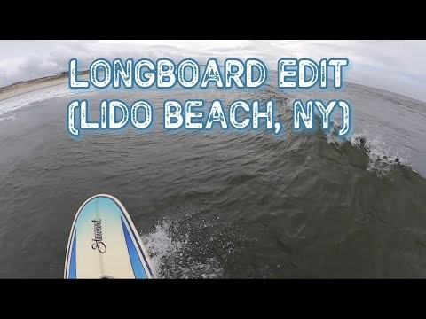 Longboard Surfing in a Storm at Lido Beach, NY: GoPro POV Edit