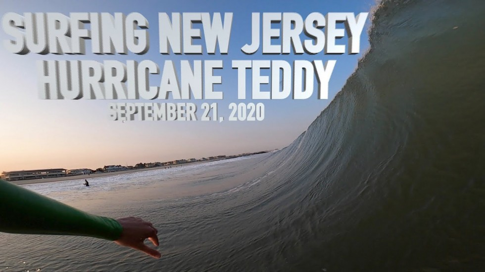 SURFING HURRICANE TEDDY - SPRING LAKE, NJ SEPTEMBER 21, 2020