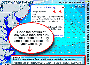 Surf Forecast and Weather Widgets | Swellinfo